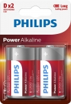 Bateria Power Alkaline LR20 B2 LR20P2B/10 PHILIPS