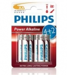 Bateria Power Alkaline LR06 B4 LR6P4B/10 PHILIPS
