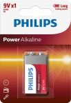 Bateria Power Alkaline 6LR61 9V  6LR61P1B/10 PHILIPS