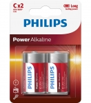 Bateria Power Alkaline LR14 B2 LR14P2B/10 PHILIPS